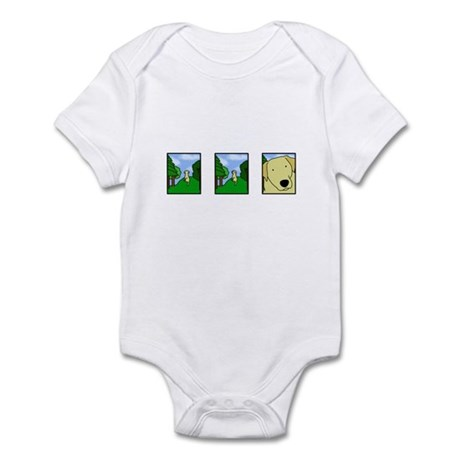 Comic Strip Yellow Lab Infant Creeper