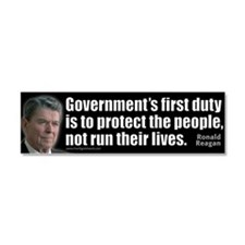 Government is not... Car Magnet 10 x 3
