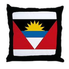 Antigua & Barbuda Flag Throw Pillow