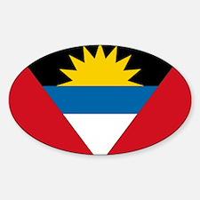 Antigua & Barbuda Flag Oval Decal