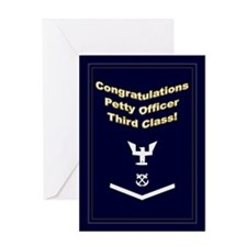 Congrats Petty Officer Third Greeting Card