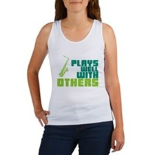 Saxophone (Plays Well With Others) Women's Tank To