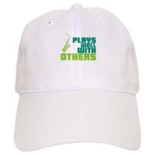 Saxophone (Plays Well With Others) Baseball Cap