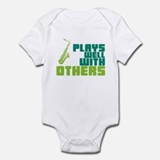 Saxophone (Plays Well With Others) Infant Bodysuit