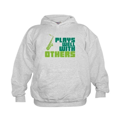 Saxophone (Plays Well With Others) Kids Hoodie