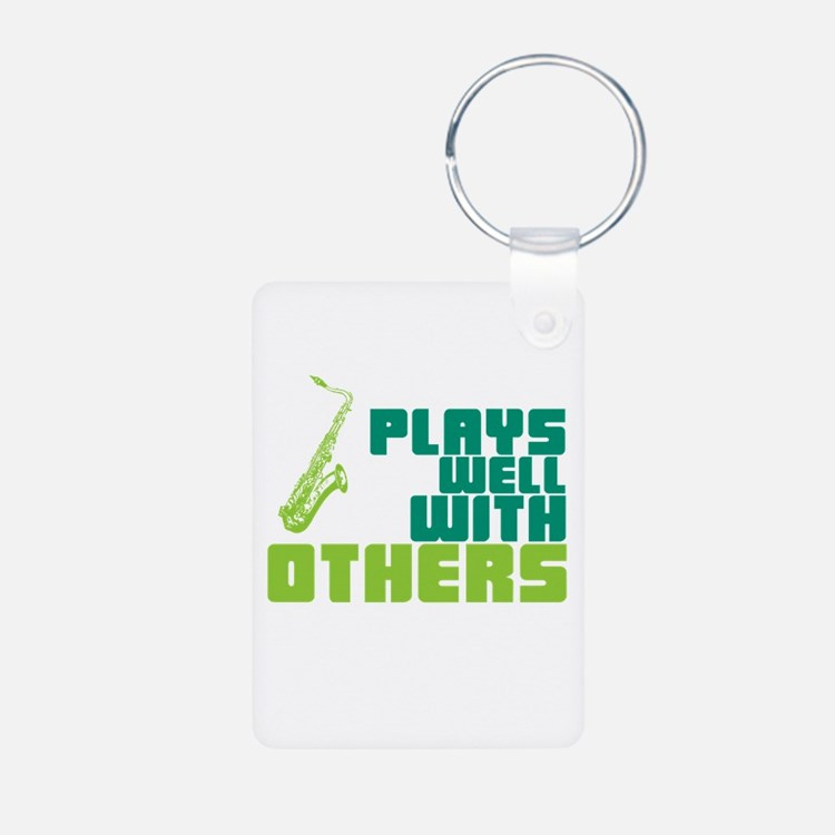 Saxophone (Plays Well With Others) Keychains