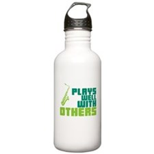 Saxophone (Plays Well With Others) Water Bottle
