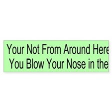 Nose Blowing Custom Bumper Sticker
