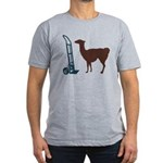 Dolly Llama Men's Fitted T-Shirt (dark)