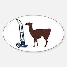 Dolly Llama Sticker (Oval)