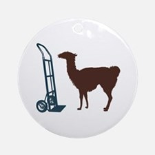 Dolly Llama Ornament (Round)