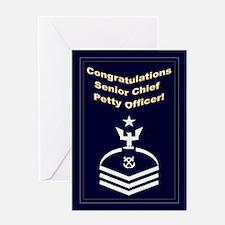 Congrats Senior Chief Petty O Greeting Card