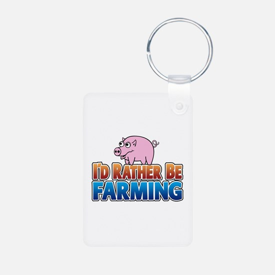 PIG rather be farming Keychains