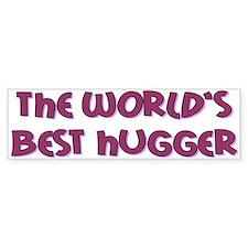 World's Best Hugger Car Sticker