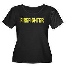 Firefighter Women's Plus Size Scoop Neck T-Shirt