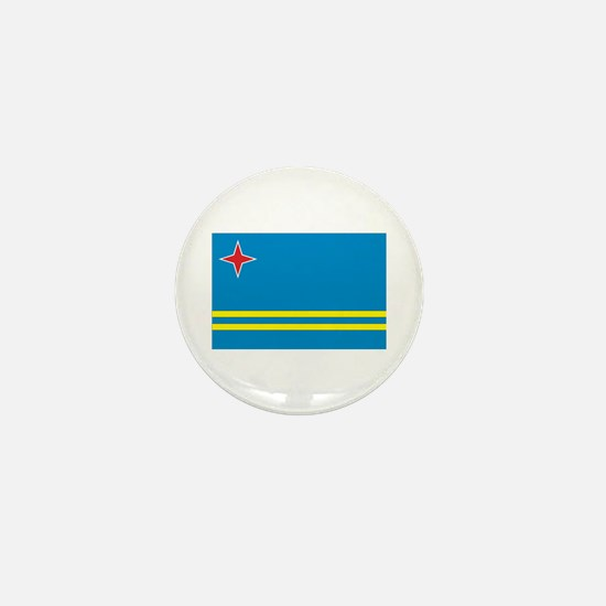 Flag of Aruba Mini Button