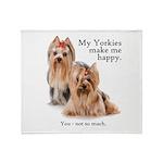 My Yorkies Throw Blanket