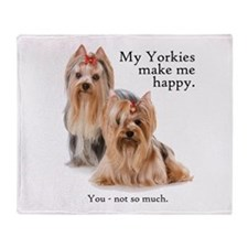 My Yorkies Throw Blanket