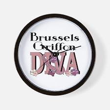 Brussels Griffon DIVA Wall Clock