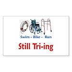 Still Tri-ing Sticker (Rectangle 10 pk)