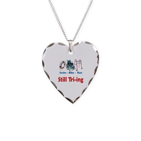 Still Tri-ing Necklace Heart Charm
