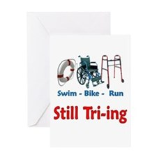 Still Tri-ing Greeting Card