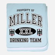 Miller German Drinking Team baby blanket