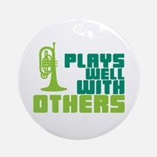 Mellophone (Plays Well With Others) Ornament (Roun