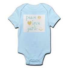 Peace, Love and Garlic Infant Bodysuit