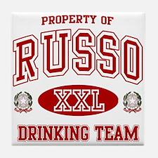 Russo Italian Drinking Team Tile Coaster