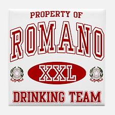 Romano Italian Drinking Team Tile Coaster