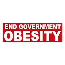 End Government Obesity Bumper Sticker