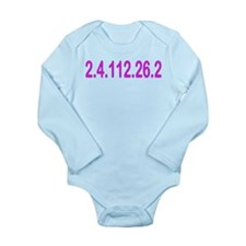 2.4.112.56.2 Blue and Pink Long Sleeve Infant Body