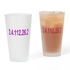 2.4.112.56.2 Blue and Pink Drinking Glass
