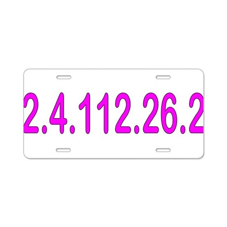 2.4.112.56.2 Blue and Pink Aluminum License Plate
