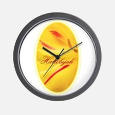 Hallelujah - Oval Wall Clock
