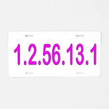 1.2.56.13.1 Aluminum License Plate