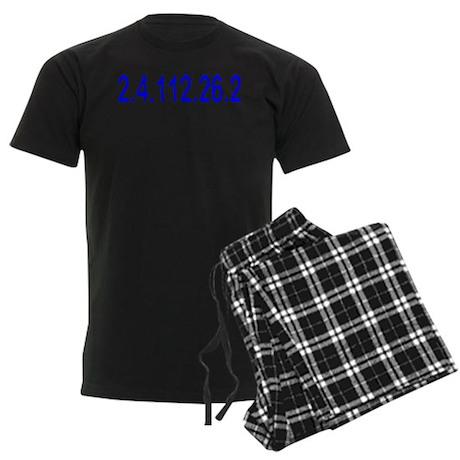 2.4.112.56.2 Blue and Pink Men's Dark Pajamas