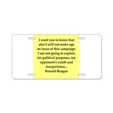 Ronald Reagan quote Aluminum License Plate