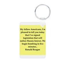 Ronald Reagan quote Keychains