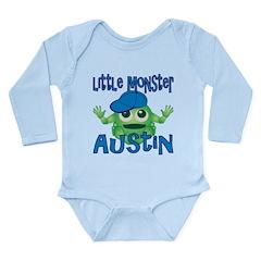 Little Monster Austin Long Sleeve Infant Bodysuit