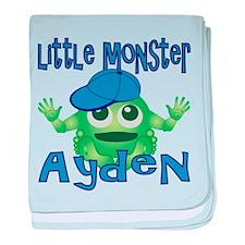 Little Monster Ayden baby blanket
