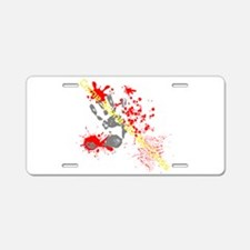 Crime Scene Aluminum License Plate