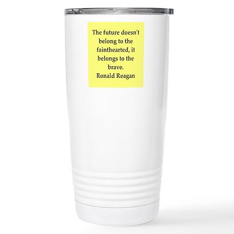 Ronald Reagan quote Stainless Steel Travel Mug