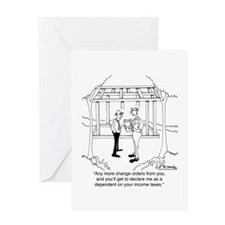 Contractor Is A Tax Dependent Greeting Card