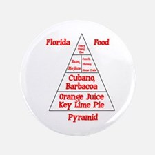 "Florida Food Pyramid 3.5"" Button"