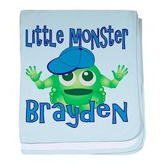 Little Monster Brayden baby blanket