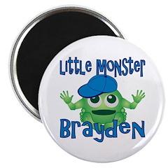 Little Monster Brayden Magnet