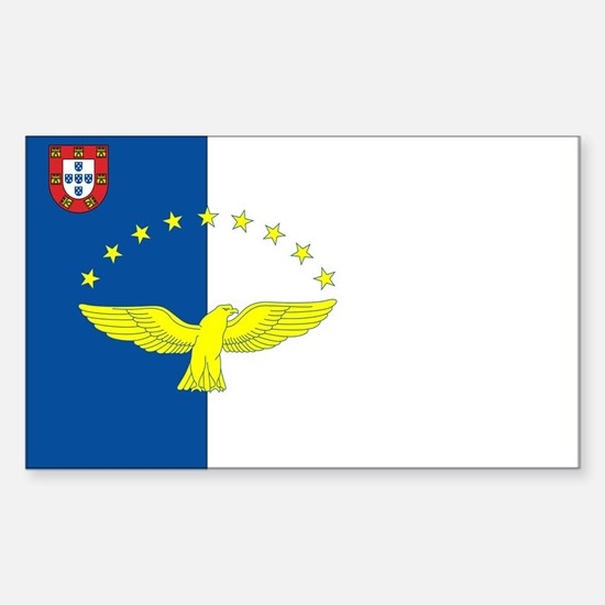 Azores Flag Rectangle Decal