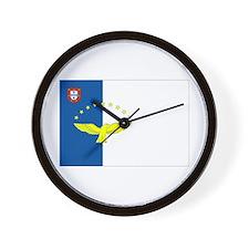 Azores Flag Wall Clock